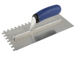 Professional Notched Adhesive Trowel 8mm Stainless Steel 11 x 4.1/2in