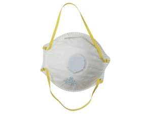 Sanding & Loft Insulation Premium Valved Moulded Mask FFP1 (Pack of 3)