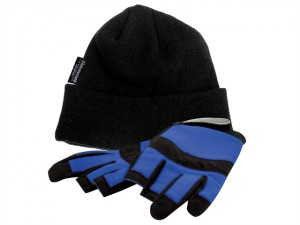 Thermal Hat & Fingerless Gloves Set
