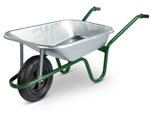 85L Galvanised Heavy-Duty Builders Wheelbarrow