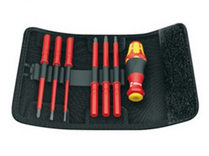 Kraftform VDE Kompakt Interchangeable Screwdriver Set of 7 SL / PZ
