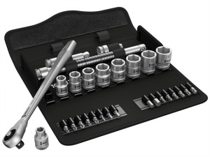 Zyklop Metal-Push Ratchet & Socket Set of 29 Metric 3/8in Drive