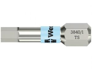 3840/1 TS Torsion Stainless Steel Insert Bit Hex 6.0 x 25mm