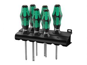 Kraftform 334/6 Lasertip Screwdriver Set of 6 SL / PH