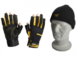CLC Pro-Tradesman Fingerless Gloves With Beanie Hat