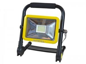 Faithfull Folding Rechargeable Site Light 20 Watt 1800 Lumens