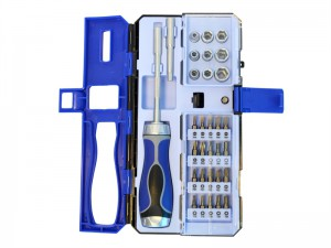 Faithfull Reversible Ratchet Screwdriver and Socket Set 33 Piece