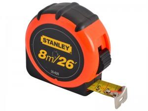 Stanley 8m/26ft Hi-Vis Tape Measure Bulk Tray 16