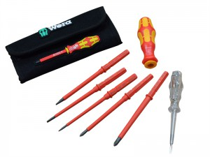 Wera VDE Interchangeable Blade Screwdriver Set 7 Piece