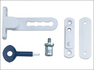 P117 Ventilation Window Lock White Finish Pack of 2