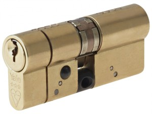 Anti-Snap Platinum Euro Cylinder 50/40 (90mm) Polished Brass