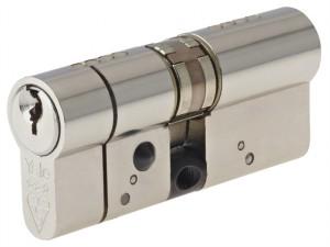 Anti-Snap Platinum Euro Cylinder 50/50 (100mm) Bright Nickel