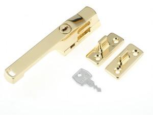 P115PB Lockable Window Handle Polished Brass Finish