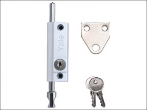 P124 Door Push Bolt White Finish Visi