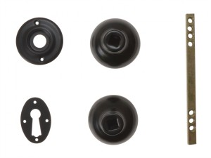 P405 Rim Knob Black Finish