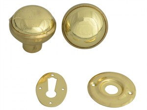 P405 Rim Knob Polished Brass Finish