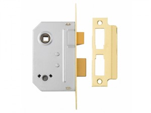 PM236 Bathroom 2 Lever Sashlock Polished Brass 67mm 2.5in