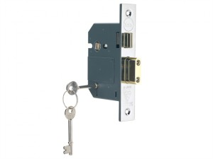 PM560 Hi-Security BS 5 Lever Mortice Sashlock Polish Chrome 68mm 2.5in