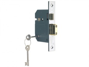 PM560 Hi-Security BS 5 Lever Mortice Sashlock Polish Chrome 81mm 3in