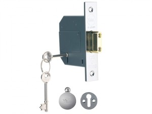 PM562 Hi-Security BS 5 Lever Mortice Deadlock 81mm 3in Polish Chrome