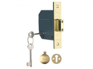 PM562 Hi-Security BS 5 Lever Mortice Deadlock 81mm 3in Polish Brass
