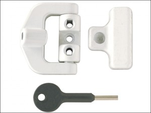 8K123 PVCu Window Lock White Finish