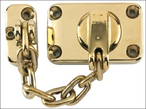 WS16 Combined Door Chain & Bolt Electro Brass Finish