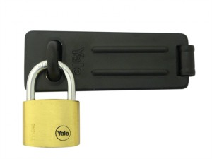Hasp & Brass Padlock Set 40mm