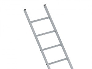 Industrial Single Aluminium Ladder With Stabilser Bar 4.73m 16 Rungs