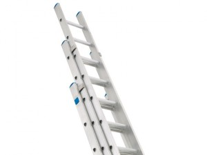 Industrial Extension Ladder 3-Part D Rungs 3 x 12