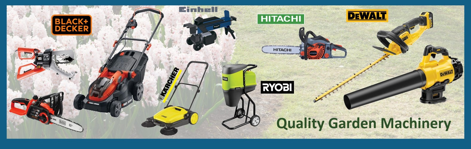 View our range of Garden Machinery