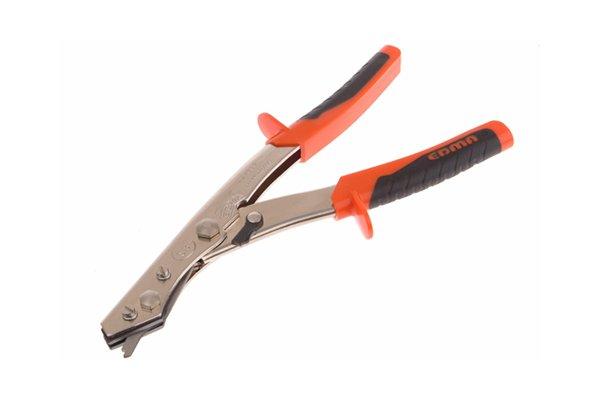 Nibbler shears, used to cut sheet metal