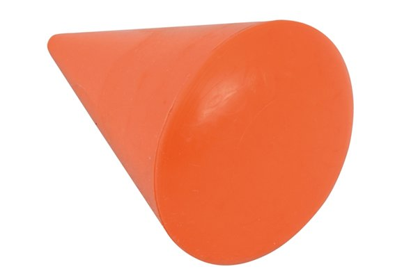 A turnpin is cone-shaped with a wide, curved base which narrows gradually to a point.