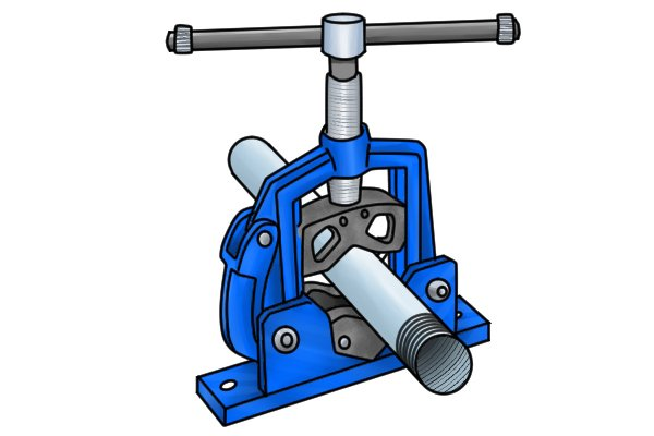 A pipe vice is a plumbing tool used to hold pipe or tubing securely so that it can be cut or threaded. Pipe vices are also useful for pipe welding.