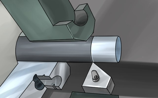 Burrs are created during machining e.g. during tuning metal in a lathe
