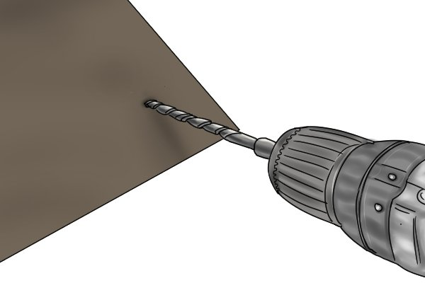 When the drill bit starts and finishes the cut in the material it will produce a burr