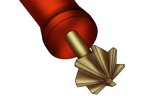 Six fluted deburring tool, this can also be called a countersink tool