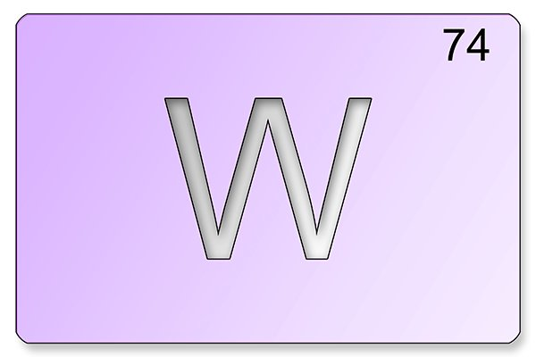 Tungsten also known as Wolfram, is greyish white in colour and has the highest melting point of all the elements