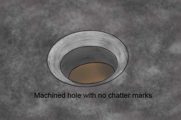 Machined hole with no chatter marks