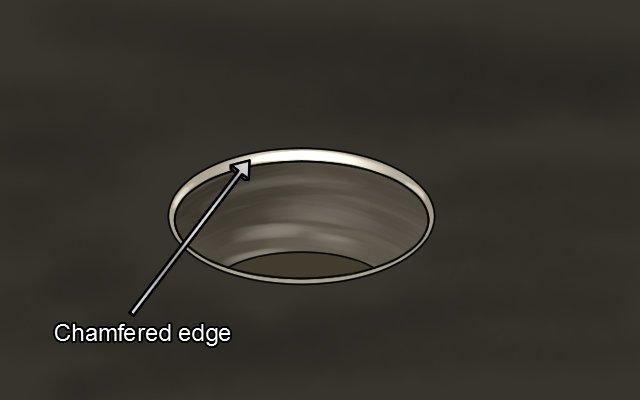 Chamfered edge