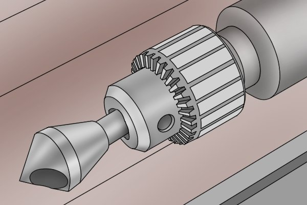 Cutting tool held in the chuck jaws