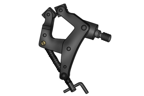 Clamp that attaches to the holding rod/arm on a magnetic base by a threaded screw