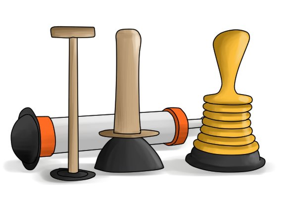 Plungers have many different types, but they all serve the same purpose to unblock pipe work