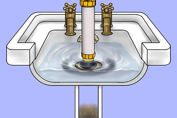 Large adapter is used for unblocking sinks