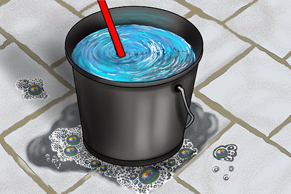 A cup plunger can be stored in a bucket