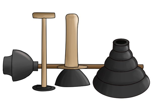 The cup on plungers is made from rubber