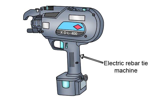 Electric rebar tie machine