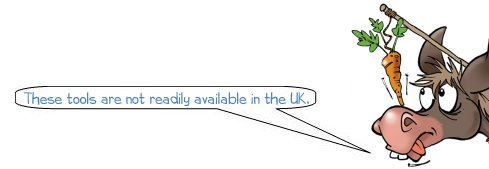 Wonkee Donkee says: 'These tools are not readily available in the UK.'