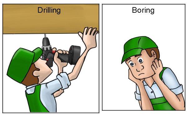 Drilling vs boring