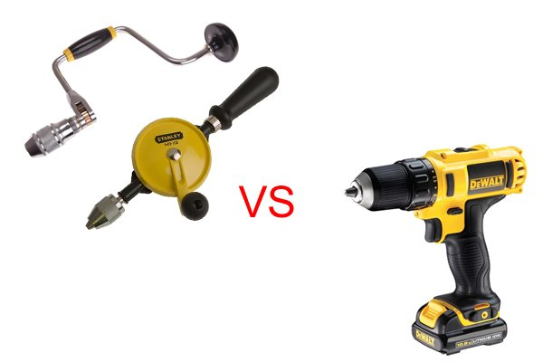There are several reasons why you may wish to use a hand drill or brace instead of a cordless drill